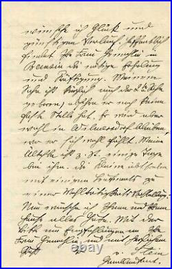 PRUSSIAN GENERAL WW I Hermann von Stein autograph, handwritten letter signed