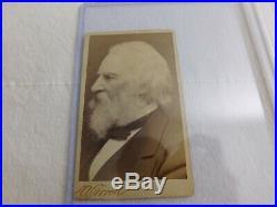 PSA Encapsulated 1872 Poet HENRY WADSWORTH LONGFELLOW Handwritten Letter & Photo