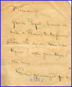 PUERTO RICAN Ramon Emeterio Betances autograph, handwritten letter signed