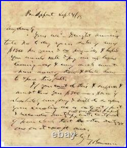 P T Barnum Circus King 1875 RARE Hand Written Letter re Salary & Loan signed