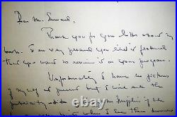 Pati Hill Poet/Author Hand Written Letter Inscribed Signed 1957 RARE