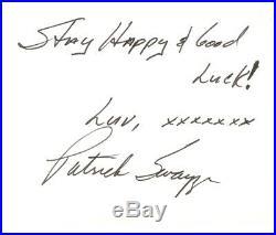 Patrick Swayze DECEASED Handwritten letter too FANS 16teen/Sixteen Magazine 1979