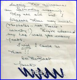 Patrick Troughton Doctor Who original hand written letter signed autograph