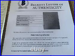 Peter Criss KISS Signed Autographed Handwritten Letter To Wife BAS Certified