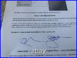 Peter Criss KISS Signed Autographed Handwritten Letter To Wife BAS Certified #2