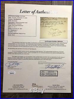 Pistol Pete Maravich Signed Handwritten Letter Jsa Spence Loa