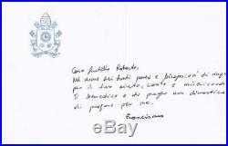 Pope Francis handwritten Letter Rare