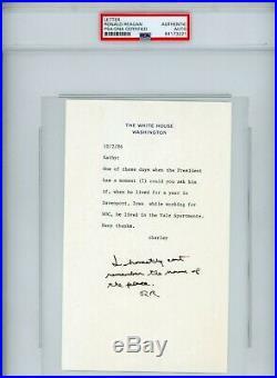 Pres. Ronald Regan Signed Handwritten Letter RE Davenport Iowa PSA/DNA Certified