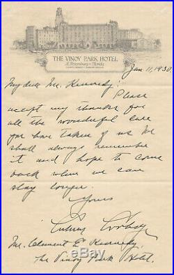 President Calvin Coolidge 1930 Autograph Letter Signed Handwritten Letter