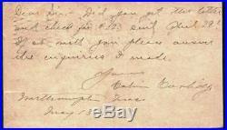 President Calvin Coolidge Signed Autographed Hand Written Letter Beckett BAS