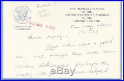 President George H. W. Bush Handwritten Letter 1971