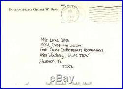 President George W Bush Signed Autographed 4x6 Hand Written Letter JSA