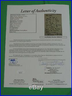 President George W. Bush Signed Hand Written Letter Jsa Certified Rare L@@k
