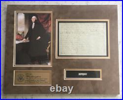 President George Washington Relic Cut Word Exerpt From Handwritten Letter