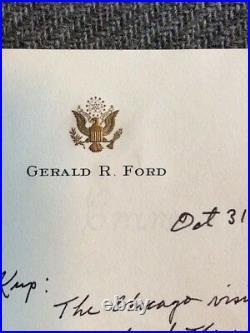 President Gerald R. Ford Hand Written Letter Signed To Irv Kupcinet (KUP)