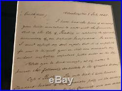 President James Buchanan Autographed Handwritten Letter July 1, 1848
