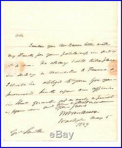 President Martin Van Buren signed Hand Written Letter PSA DNA Rare Auto Z419