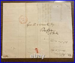 President Millard Fillmore 1838 Autograph Letter Signed Handwritten Letter
