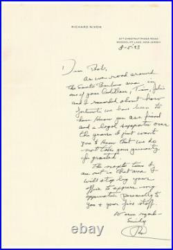 President Richard Nixon 1993 Typed Letter Signed Great Handwritten Letter