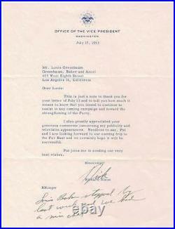 President Richard Nixon Autograph Letter Signed Plus 3 Lines Handwritten