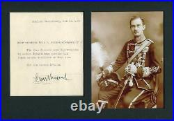 Prince Ernest Augustus of Hanover autograph, handwritten letter signed