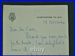 Prince Philip Duke Edinburgh handwritten signed letter + envelope 1981 Autograph