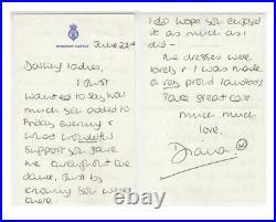 Princess Diana Full Handwritten Letter Signed Beckett BGS Authenticated