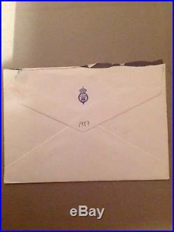 Princess Diana, signed, handwritten letter. AFTAL DEALER