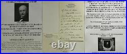 Pristine, Speaker Of The House Charles F. Crisp Handwritten & Signed Letter