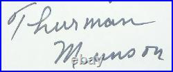 Psa/dna Thurman Munson Hand Written Letter Autographed-signed With Topps Cards 2