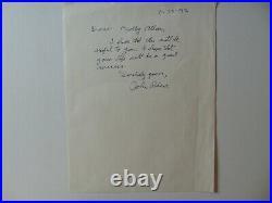 Psychoacoustics John R. Pierce Hand Written Letter Todd Mueller COA