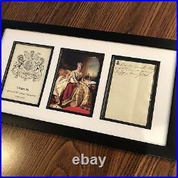 Queen Victoria Handwritten Letter Signed Framed Display 1851 Windsor JSA LOA