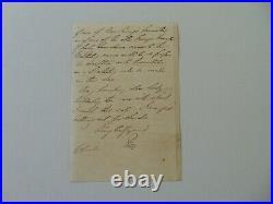 RARE! 1st Earl Howe Richard Curzon-Howe Hand Written Letter Todd Mueller COA