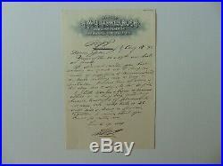 RARE! Air Rifles Henry Quackenbush Hand Written Letter Dated 1892 Mueller COA
