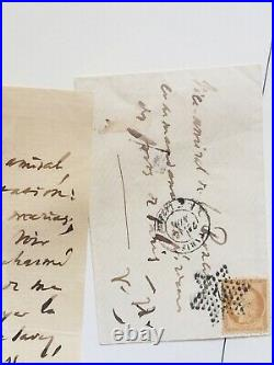 RARE Authentic VICTOR HUGO HANDWRITTEN Letter SIGNED LETTRE Autograph Manuscrit