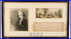 RARE Autograph Letter Handwritten by Thomas Paine Common Sense (1776) Author