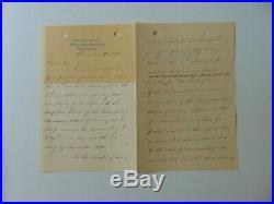 RARE! Civil War MOH John Tweedale Hand Written 3 Page Letter Todd Mueller COA
