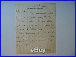 RARE! Essayist & Critic Laurence Hutton Hand Written Letter Todd Mueller COA