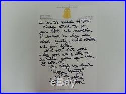 RARE! First Criminal Profiler John E. Douglas Hand Written Letter Mueller COA
