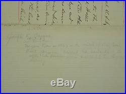 RARE HAND WRITTEN & SIGNED 1880 LETTER Dr. JOSEPH K. BARNES as SURGEON GENERAL