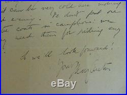 RARE! Immigration Rights Activist Mary Antin Hand Written Letter Todd Mueller
