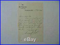 RARE! Lord Chief Justice Charles Russell Hand Written Letter JG Autographs COA
