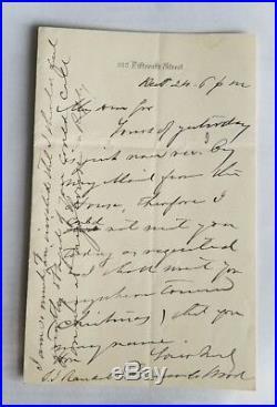 RARE! Mayor of New York Fernando Wood Hand Written Letter JG Autographs COA