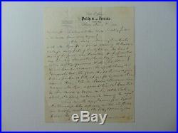 RARE! NY Congressman Lyman Tremain Hand Written 4 Page Letter Dated 1870 COA