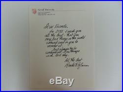 RARE! Nobel Prize in Chemistry Roald Hoffmann Hand Written Letter Mueller COA