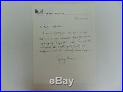 RARE! Nobel prize in Medicine Sydney Brenner Hand Written Letter Mueler COA