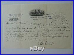 RARE! Ornithologist Arthur Cleveland Bent Hand Written Letter Todd Mueller COA