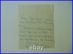 RARE! Philanthropist Noémie de Rothschild Hand Written Letter Mueller COA