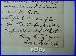 RARE! Physicist Lorin Blodget Hand Written Letter Dated 1890 Todd Mueller COA