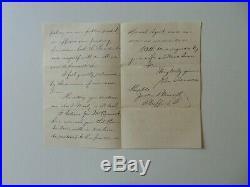 RARE! Secretary of State John Sherman Hand Written 3 Page Letter Mueller COA